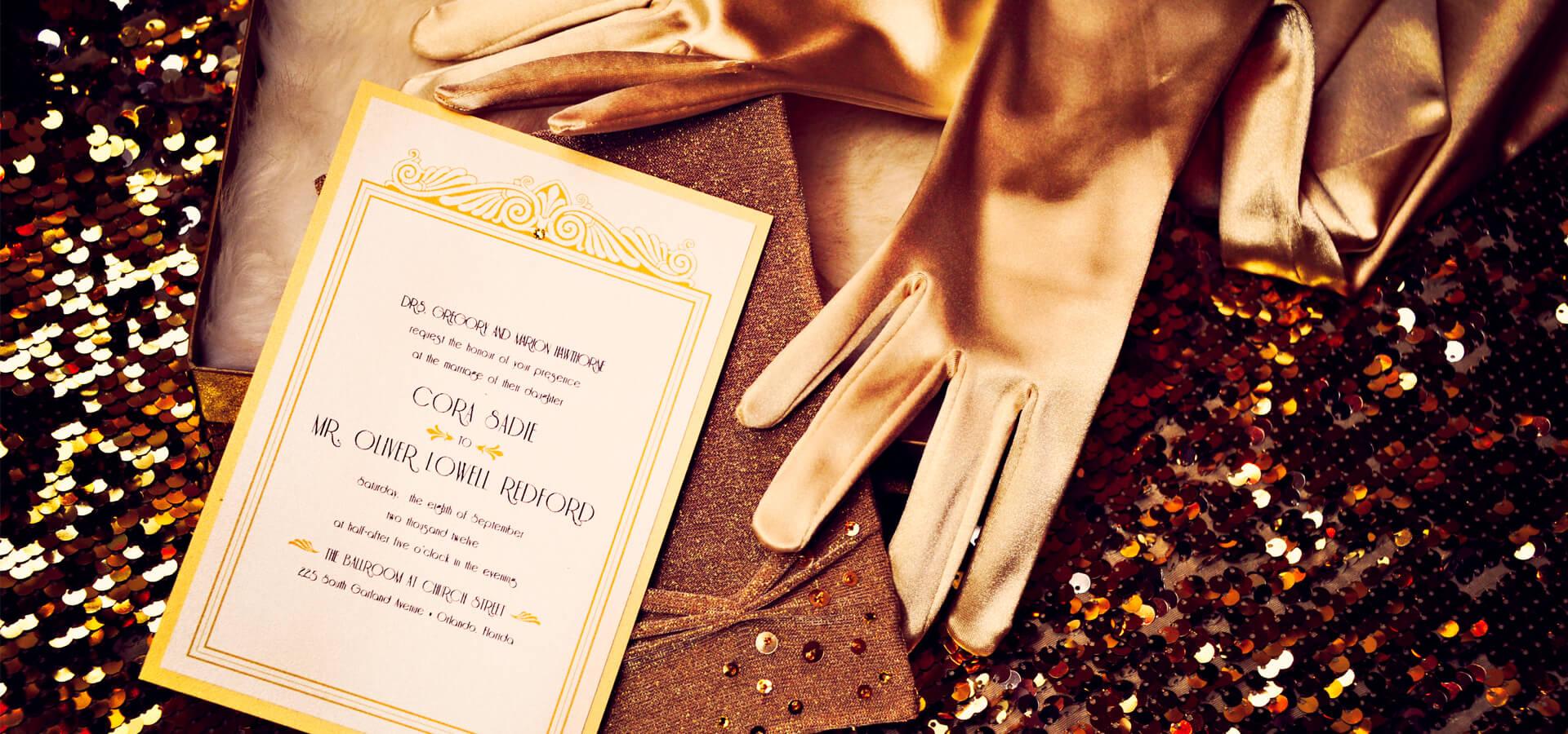 Шик и блеск: свадьба в стиле «Великий Гэтсби»